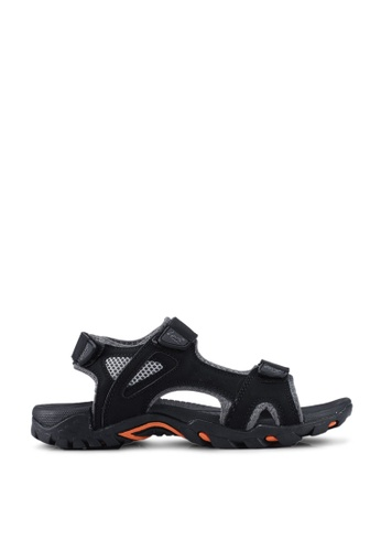 Louis Cuppers black Casual Sandals D85B7SH1EB50EBGS_1