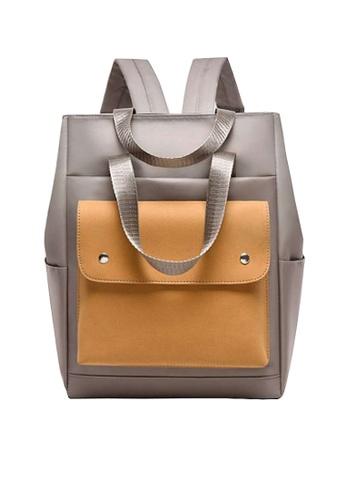 Twenty Eight Shoes brown VANSA Nylon Oxford Backpacks VBW-Bp1190 00C56ACFA6CB4FGS_1