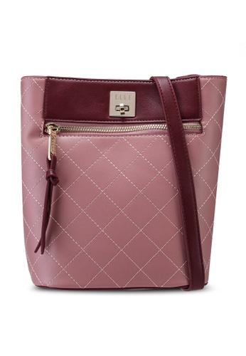 ELLE pink Charis Crossbody Bag 4E6B3ACBB61C67GS_1