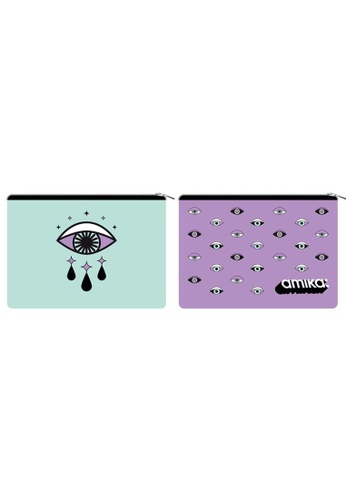 Amika green and purple amika Limited Edition Laptop Bag - Eyes Wide Shut (Mint&Purple) 6A7CAAC1F4BF60GS_1