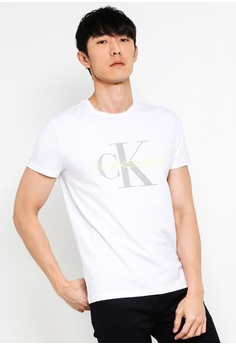 d3040b4f4123 Calvin Klein white A-Metallic Mono Slim - Calvin Klein Jeans  4B517AAE5180A7GS_1