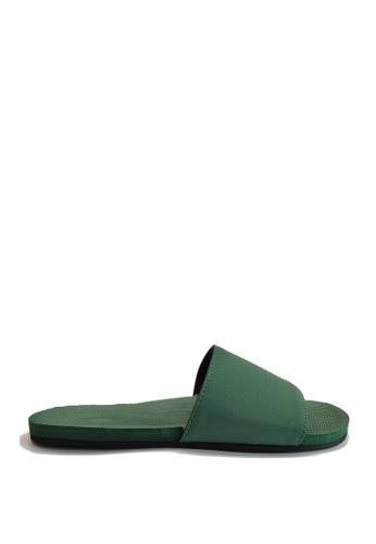 Indosole green Indosole Women's ESSNTLS Slides - Leaf A2F91SH786655FGS_1