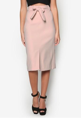 腰帶及膝短裙,esprit taiwan 服飾, 清新俏皮