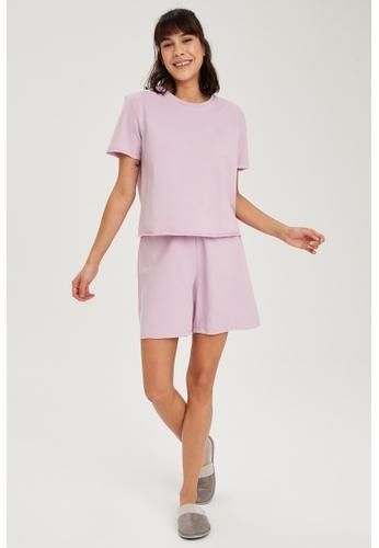 DeFacto purple Woman Homewear Short B1CC2AA35E8CACGS_1