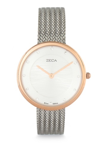 ZECA silver Zeca Watches Ladies Fashion Stainless Steel Analog - 1001L(4) Silver Rosegold 0FBDCAC6D2EBEAGS_1