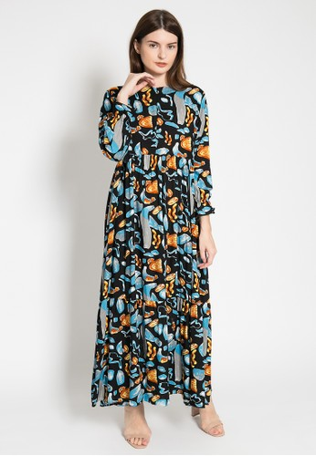 LISH black and blue and multi Riku Dress - Dark Sea 4CF8AAAEB7D677GS_1
