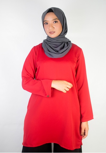 Zaryluq red Kurti Top in Scarlet Red A125AAA9E3F98EGS_1