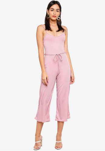 190191502 Shop MISSGUIDED Rib Culotte Jumpsuit Online on ZALORA Philippines