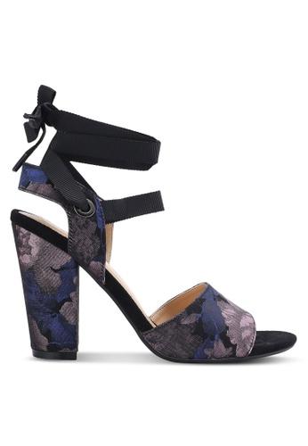 ZALORA black and multi Lace Up Jacquard Heels 5BBA0SH4837F9EGS_1