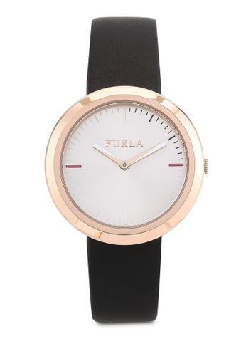 Furla black Furla Valentina 34mm Ladies' Leather Strap Watch FU454AC70ANTMY_1