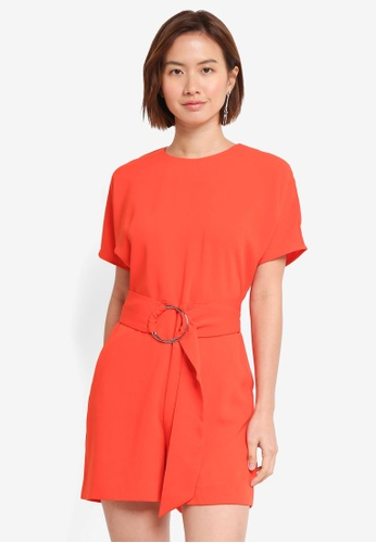 WAREHOUSE orange O Ring Playsuit FAE24AA30914A8GS_1