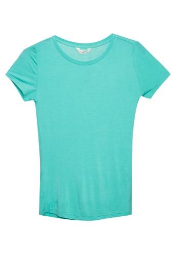 MARKS & SPENCER green Jersey Short Sleeve Top F56D4AA09B4E73GS_1