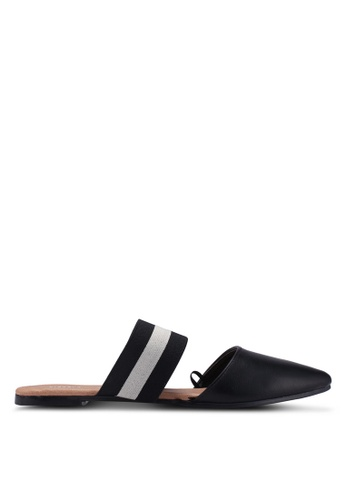 Rubi black Cosima Two Piece Mule Flats 78B58SH138ACB8GS_1