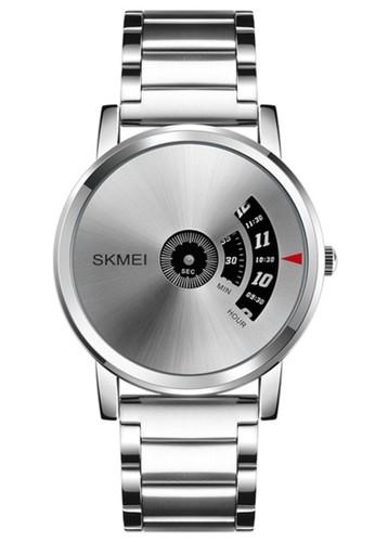 Skmei silver Jam Tangan Kasual Analog Pria Waterproof Strap Tali Material Stainless TC45 ORIGINAL DF473AC9F5ED77GS_1