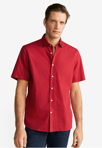 Mango Man red Regular Fit Printed Cotton Shirt 1FBE5AA60F46E5GS_1