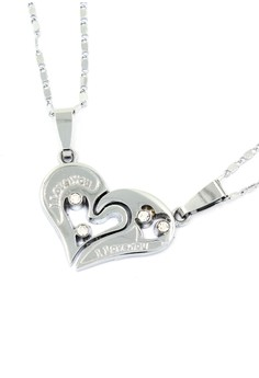 Venice Couple Necklace I Love You 07