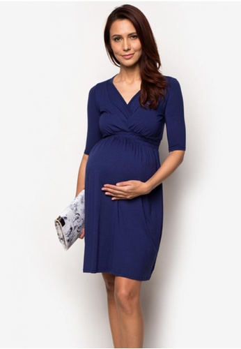 baby bump yuri nursing dress blue