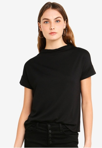 ESPRIT 黑色 短袖T恤 889ECAAC707860GS_1