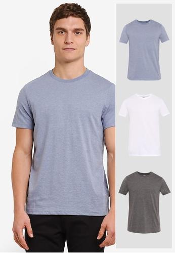 Burton Menswear London white 3 Pack Basic T-Shirts BU964AA0S7EXMY_1
