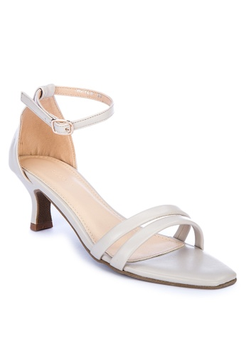 Shoo In white Hayla Heeled Sandals CDBBDSH028315AGS_1
