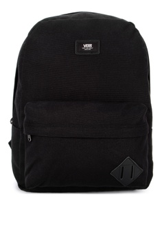 8cf36743fa2ec6 VANS black Old Skool II Backpack 241BBACCBD34D8GS 1