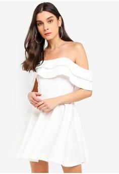 Miss Selfridge white Ivory Bardot Scuba Mini Dress A9103AAEAA9102GS 1 5835bd238