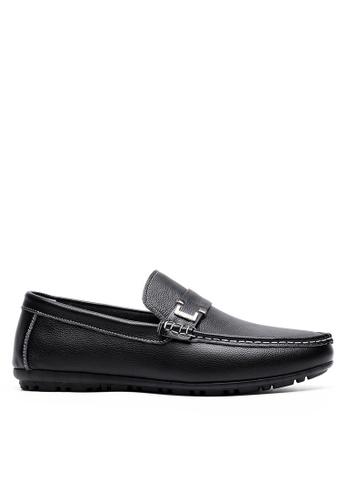 Twenty Eight Shoes 黑色 真牛皮休閒帆船鞋81905 45996SH6EFB12DGS_1