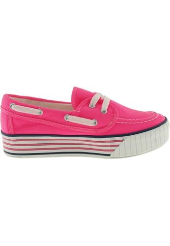 Maxstar pink Maxstar Women's C30 Boat Platform Canvas Slip On Loafers US Women size MA164SH04QRFSG_1