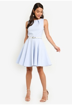 c806b747ba595 20% OFF CLOSET Skater Belted Dress RM 315.00 NOW RM 251.90 Sizes 8 10 12 14  16