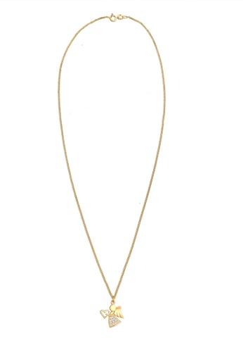 ELLI GERMANY white Heart Zirconia Talisman Symbol Necklace BD139ACD0F2B9BGS_1
