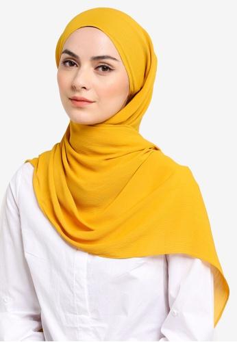 UMMA yellow Mayesa Basic Scarf in Mustard C64E2AA7276B57GS_1