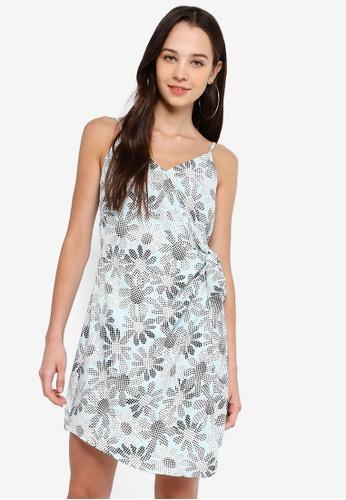 Something Borrowed 藍色 Cami Wrap Dress 77EC2AAEDB443DGS_1