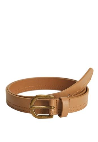 MANGO KIDS brown Metal Buckle Belt 7CB92KC76E7263GS_1