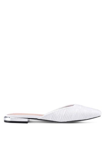 Nose 白色 綢緞穆勒鞋 2DB55SHB9CCBBCGS_1