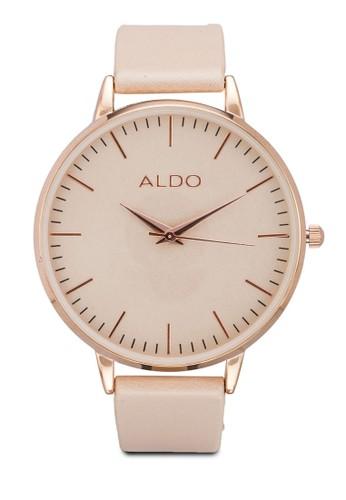 Vallebuona 皮革圓框手錶, 錶類, 女esprit outlet 台灣裝手錶