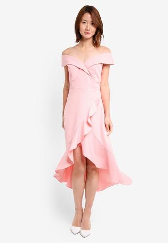 ZALORA pink Sweetheart Neckline Dress A6162AA5E6D058GS_1