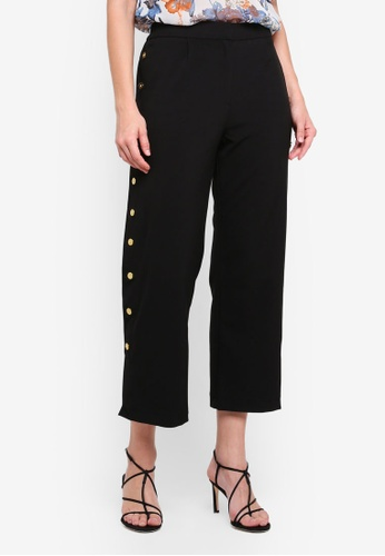 Y.A.S black Trick Cropped Pants C7142AAC58D95AGS_1