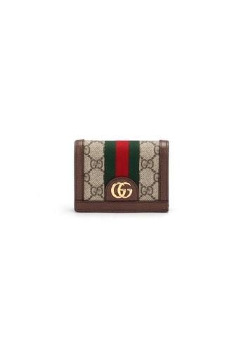 GUCCI beige Pre-Loved gucci Gucci Ophidia Gg Card Case Coin & Banknote in Beige B08EEAC92472CEGS_1