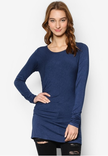 Max Studio blue Ruched Detail Top MA703AA53DQKMY_1