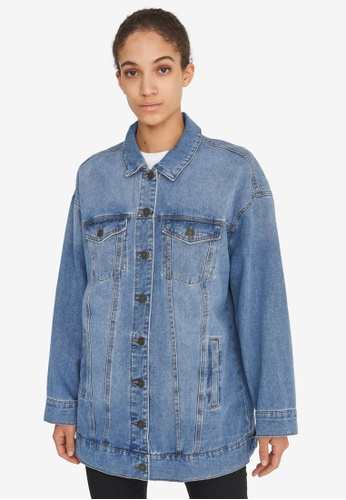 Noisy May blue Fiona Denim Jacket CDA81AA1FCB6FDGS_1