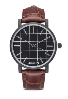 Neal Analogue Watch with Canvas & Leather Strap