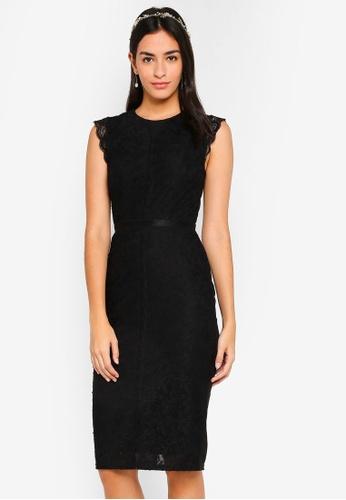 ZALORA black Bridesmaids Lace Pencil Dress 4A851AA16AA615GS_1