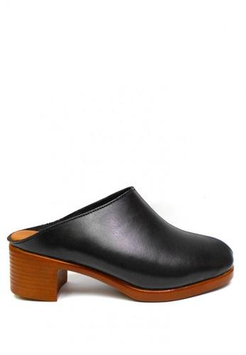 April Colleen Shoes black Raissa Leather Sandals AP796SH68SRZPH_1