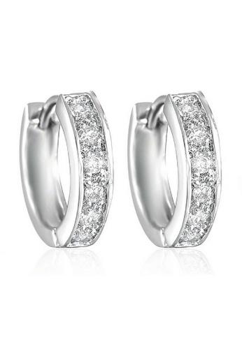 Vivere Rosse Silver Clic Crystal Huggies Earrings Vi014ac79zwimy 1