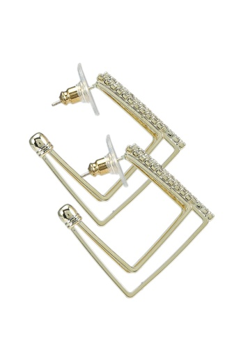 Red's Revenge gold 14K Gold Plated Shine On Square Hoops 47124AC811EA05GS_1