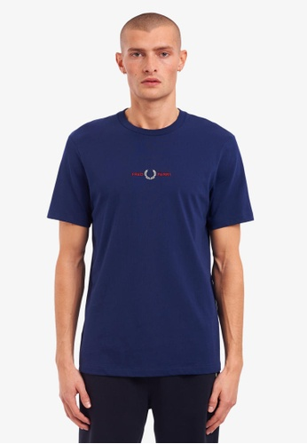 Fred Perry navy M1609 - Embroidered T-Shirt - (French Navy) 6036AAA6434B43GS_1