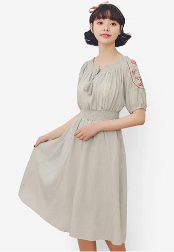 Shopsfashion green Boho Midi Dress 8F1EFAAAA6FA47GS_1