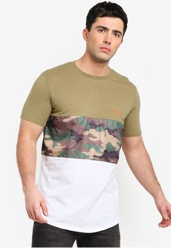 Factorie 多色 短袖品牌刺繡T恤 BE491AA3E95290GS_1