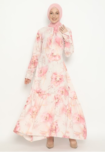 FEY ATTIRE pink Ayudisa Dress BEB5FAAB0E1981GS_1