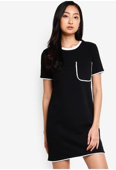 26a5976f Something Borrowed black Pocket Knit Tee Dress 6D4FBAA6F9D3B4GS_1